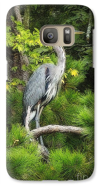 Galaxy Case featuring the photograph Blue Heron by Lydia Holly