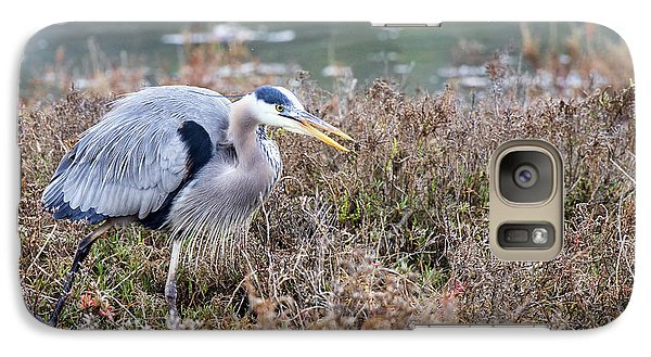 Galaxy Case featuring the photograph Blue Heron On The Hunt by Eddie Yerkish