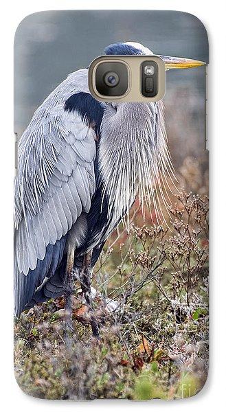 Galaxy Case featuring the photograph Blue Heron Portrait by Eddie Yerkish