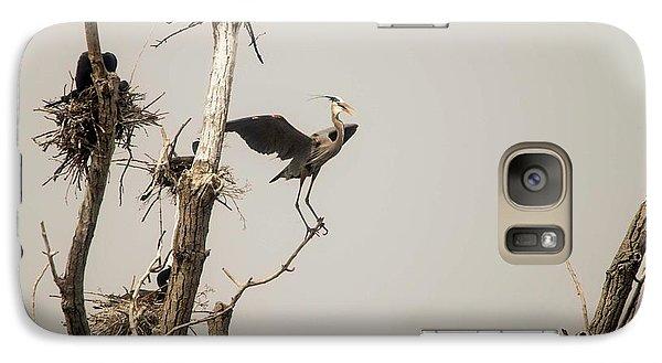 Galaxy Case featuring the photograph Blue Heron Posing by David Bearden