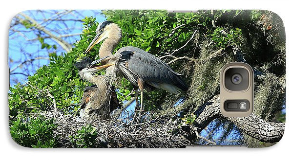 Galaxy Case featuring the photograph Blue Heron Series Baby 1 by Deborah Benoit