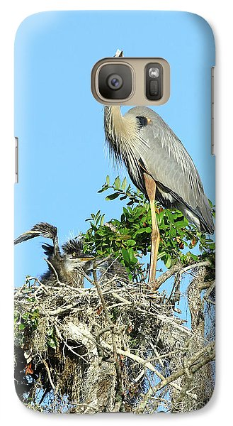 Galaxy Case featuring the photograph Blue Heron Series Baby 2 by Deborah Benoit