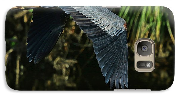 Galaxy Case featuring the photograph Blue Heron Series The Pond by Deborah Benoit