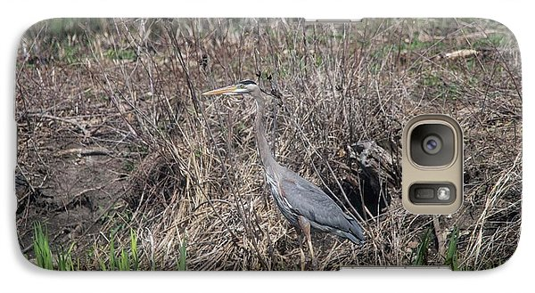 Galaxy Case featuring the photograph Blue Heron Stalking Dinner by David Bearden