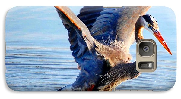 Galaxy Case featuring the photograph Blue Heron by Sumoflam Photography