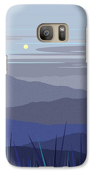 Galaxy Case featuring the digital art Blue Hills Vertical by Val Arie