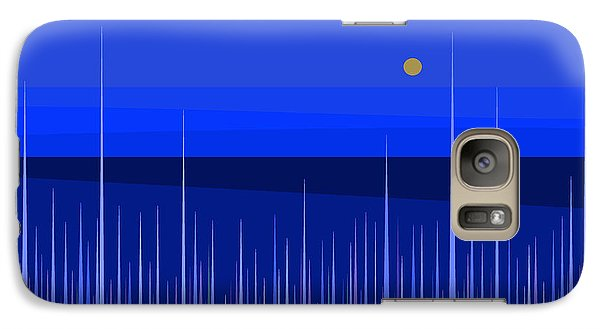 Galaxy Case featuring the digital art Blue Horizon by Val Arie
