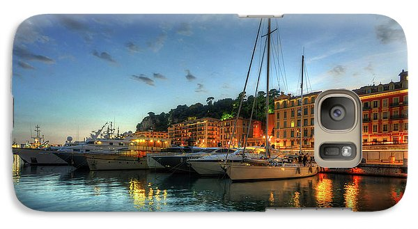 Galaxy Case featuring the photograph Blue Hour At Port Nice 2.0 by Yhun Suarez