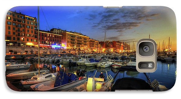 Galaxy Case featuring the photograph Blue Hour At Port Nice 1.0 by Yhun Suarez