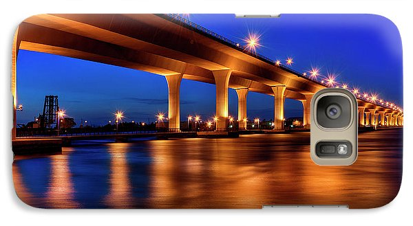 Galaxy Case featuring the photograph Blue Hour At Roosevelt Bridge In Stuart Florida  by Justin Kelefas