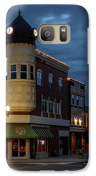 Blue Hour Over The Clock Tower Galaxy S7 Case