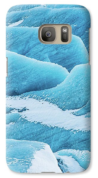 Galaxy Case featuring the photograph Blue Ice Svinafellsjokull Glacier Iceland by Matthias Hauser