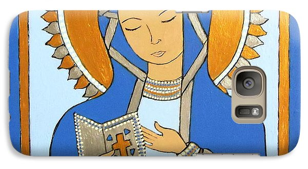 Galaxy Case featuring the painting Blue Icon by Stephanie Moore