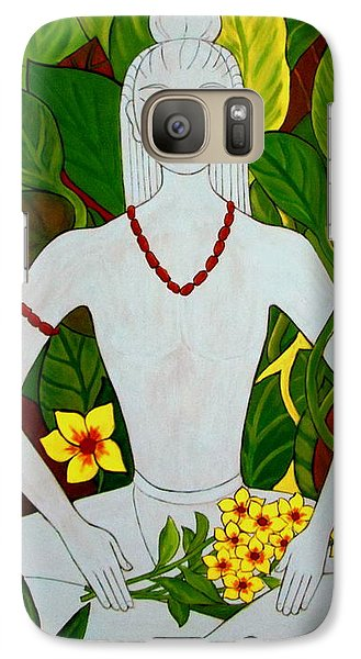 Galaxy Case featuring the painting Blue Idol by Stephanie Moore
