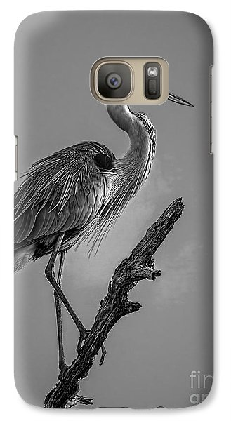 Blue In Black-bw Galaxy S7 Case by Marvin Spates