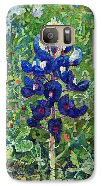 Galaxy Case featuring the painting Blue In Bloom 2 by Hailey E Herrera