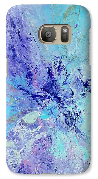 Galaxy Case featuring the painting Blue Indigo by Irene Hurdle