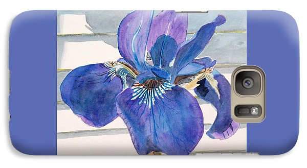 Galaxy Case featuring the painting Blue Iris by LeAnne Sowa