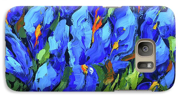Galaxy Case featuring the painting Blue Irises by Dmitry Spiros