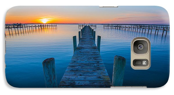 Galaxy Case featuring the photograph Blue Is The Bay by Steven Ainsworth