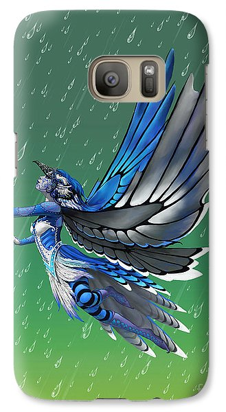 Galaxy Case featuring the digital art Blue Jay Fairy by Stanley Morrison