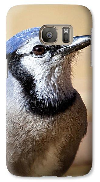Blue Jay Portrait Galaxy Case by Al  Mueller