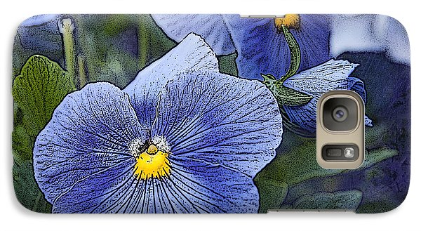 Galaxy Case featuring the photograph Blue Ladies by Terri Harper