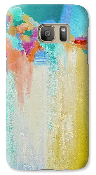 Galaxy Case featuring the painting Blue Lagoon by Irene Hurdle