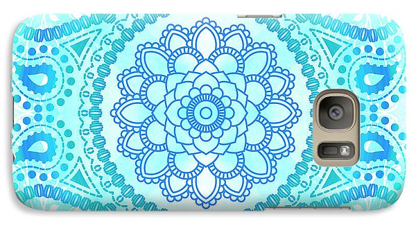 Galaxy Case featuring the painting Blue Lotus Mandala by Tammy Wetzel