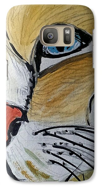 Galaxy Case featuring the painting Blue by Lou Belcher