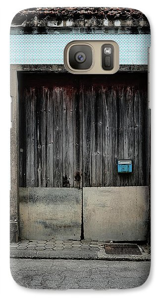 Galaxy Case featuring the photograph Blue Mailbox by Marco Oliveira