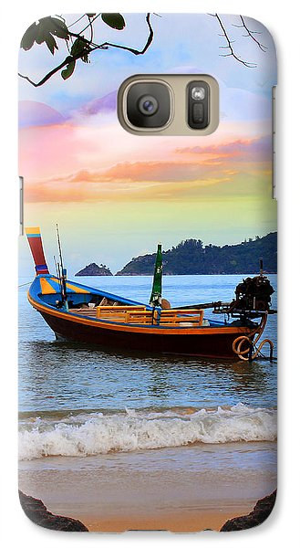 Venice Beach Galaxy S7 Case - Blue by Mark Ashkenazi