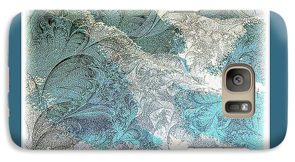 Galaxy Case featuring the photograph Blue Maze by Athala Carole Bruckner