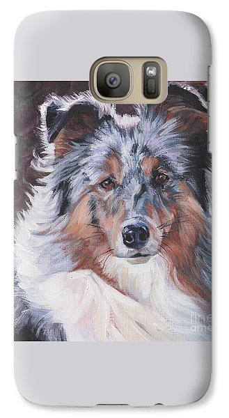 Galaxy Case featuring the painting Blue Merle Sheltie by Lee Ann Shepard
