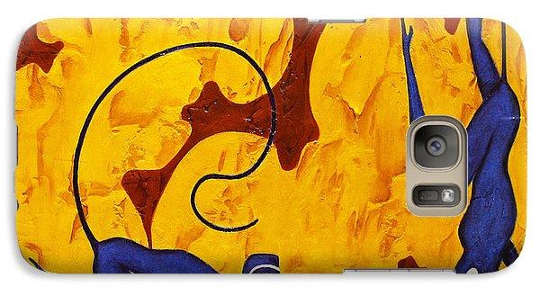 Blue Monkeys No. 45 Galaxy S7 Case