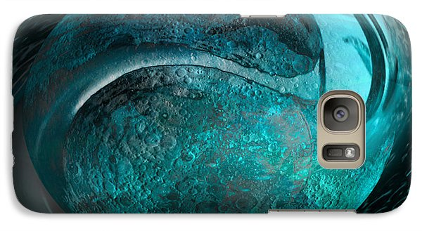 Galaxy Case featuring the digital art Blue Moon by Kevin Caudill