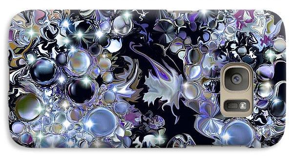Galaxy Case featuring the digital art Blue Moon by Loxi Sibley