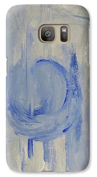 Galaxy Case featuring the painting Blue Moon by Victoria Lakes