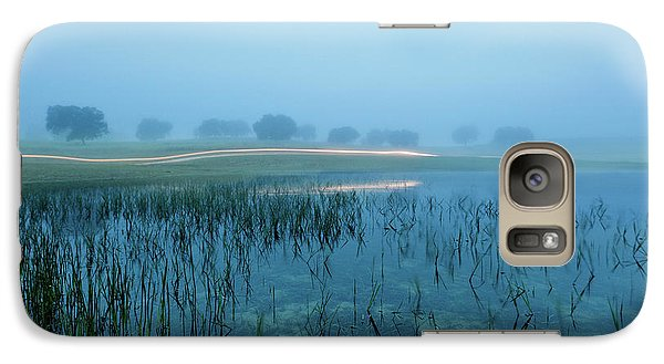 Galaxy Case featuring the photograph Blue Morning Flash by Jorge Maia