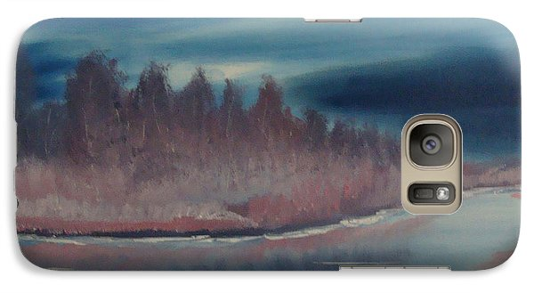 Galaxy Case featuring the painting Blue Nightfall Evening by Rod Jellison