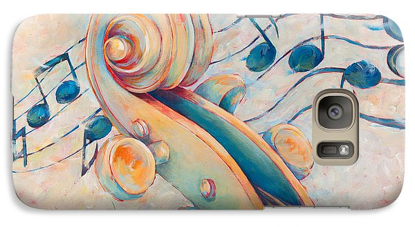 Violin Galaxy S7 Case - Blue Notes by Susanne Clark