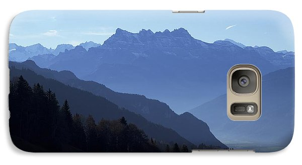 Galaxy Case featuring the photograph Blue On Blue-- Les Dents Du Midi  by Colleen Williams