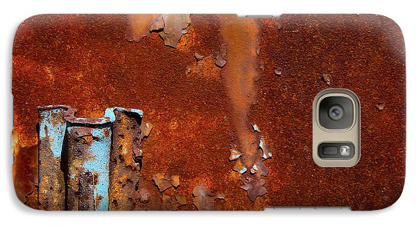 Galaxy Case featuring the photograph Blue On Rust by Karol Livote