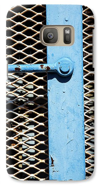 Galaxy Case featuring the photograph Blue On White by Karol Livote