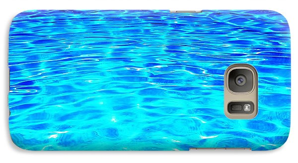 Galaxy Case featuring the photograph Blue Or Green by Ramona Matei