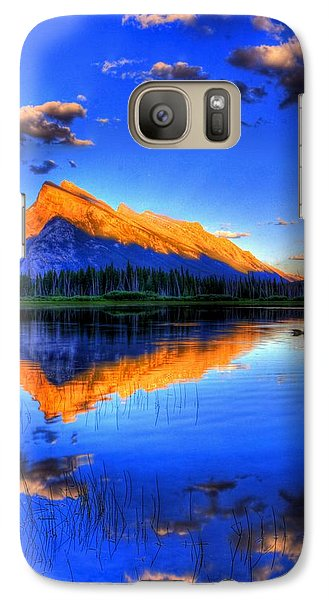Galaxy Case featuring the photograph Blue Orange Mountain by Test Testerton