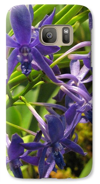 Galaxy Case featuring the photograph Blue Orchid by Alfred Ng