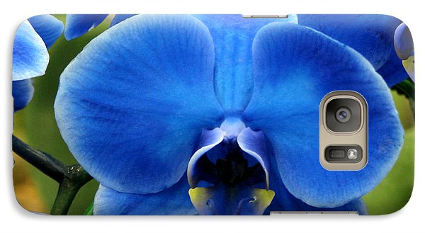 Galaxy Case featuring the photograph Blue Orchid by Peg Urban