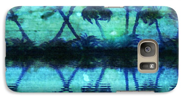 Galaxy Case featuring the painting Blue Paradise by Holly Martinson