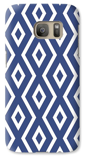 Blue Pattern Galaxy Case by Christina Rollo